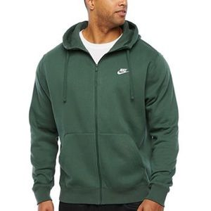 Nike zip up forest green